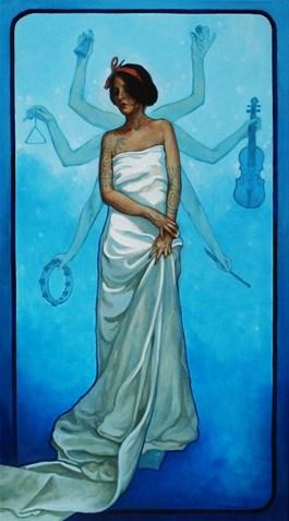 Obraz do salonu artysty Krzysztof Powałka pod tytułem Blue tatoo