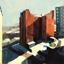 Obraz do salonu artysty Martin Imrich pod tytułem Budynek