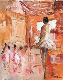Obraz do salonu artysty Dominique Kleiner pod tytułem Danseuses