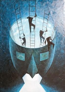 Obraz do salonu artysty Łukasz Czernicki pod tytułem Ucieczka