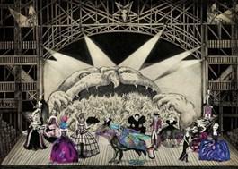 Obraz do salonu artysty Kamila Wojciechowicz pod tytułem Inferno Ball Masquearade