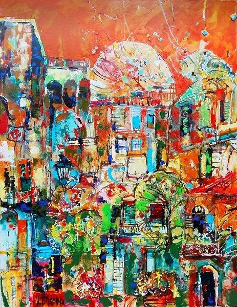 Obraz do salonu artysty Krzysztof Ludwin pod tytułem Powidoki miast mijanych 20