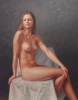 Obraz do salonu artysty Wojciech Piekarski pod tytułem Akt siedzący