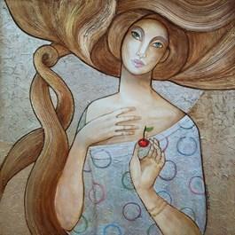 Obraz do salonu artysty Joanna Misztal pod tytułem Wisienka