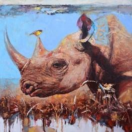 Obraz do salonu artysty Alex Sporski pod tytułem Krótkotrwały towarzysz podróży