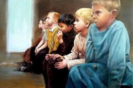 Obraz do salonu artysty Jan Dubrowin pod tytułem Jasełka