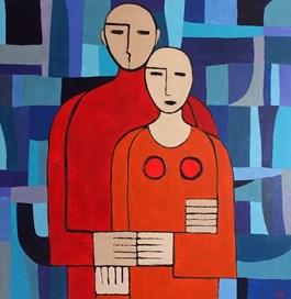 Obraz do salonu artysty Monika Dałek pod tytułem Pożądasz w kosmosie w czasie