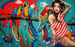 Obraz do salonu artysty Kamila Jarecka pod tytułem Plotkara