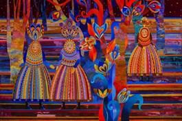 Obraz do salonu artysty Karolina Matyjaszkowicz pod tytułem Nadchodzi zmierzch