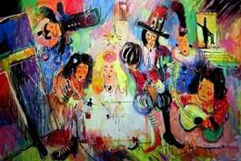 Obraz do salonu artysty Dariusz Grajek pod tytułem Las Meninas