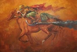 Obraz do salonu artysty Maciej Wierzbicki pod tytułem Koń mechaniczny