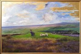 Obraz do salonu artysty Patrycja Kruszynska-Mikulska pod tytułem Wichrowe Wzgórza