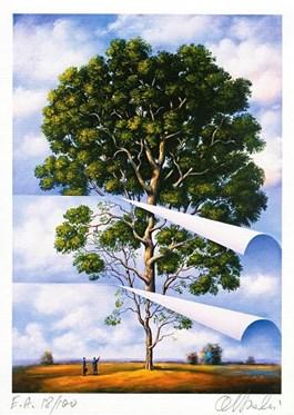Obraz do salonu artysty Rafał Olbiński pod tytułem Drzewo