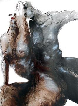 Obraz do salonu artysty Andrzej Domżalski pod tytułem W oczekiwaniu na Słońce