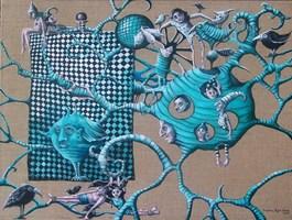 Obraz do salonu artysty Magdalena Rytel-Skorek pod tytułem W krainie czarów