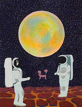 Obraz do salonu artysty Marek Konatkowski pod tytułem Space pool 1