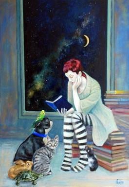 Obraz do salonu artysty Katarzyna Orońska pod tytułem Bajki dla porzuconych zwierząt