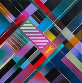 Obraz do salonu artysty Artur Marciniszyn pod tytułem Y-TOWN