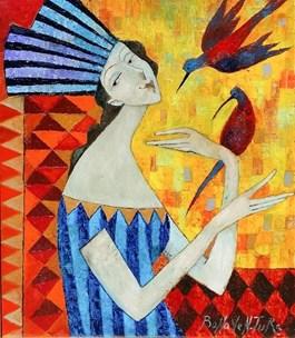Obraz do salonu artysty Jan Bonawentura Ostrowski pod tytułem Spotkanie z latem
