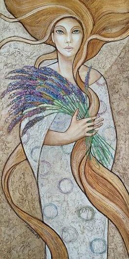Obraz do salonu artysty Joanna Misztal pod tytułem Wonność lawendy