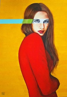 Obraz do salonu artysty Renata Magda pod tytułem Letnio-zielono-turkusowe myśli