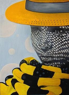 Obraz do salonu artysty Michał Zalewski pod tytułem Słomkowy kapelusz