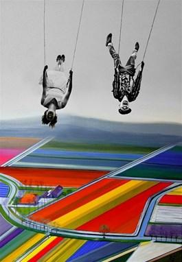 Obraz do salonu artysty Paulina Zalewska pod tytułem Nad polami II
