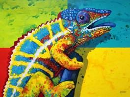 Obraz do salonu artysty Robert Konrad pod tytułem Kameleon