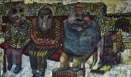 Obraz do salonu artysty Piotr Nogaj pod tytułem Menele