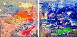 Obraz do salonu artysty Gossia Zielaskowska pod tytułem Yellow fluo grigio caldo map