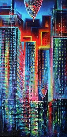 Obraz do salonu artysty Kamila Karst pod tytułem Puls miasta