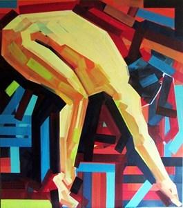 Obraz do salonu artysty Piotr Kachny pod tytułem Body language