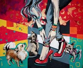 Obraz do salonu artysty Kamila Jarecka pod tytułem Modne dodatki