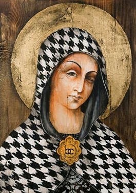 Obraz do salonu artysty Borys Fiodorowicz pod tytułem Serwus Madonna
