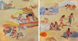 Obraz do salonu artysty Dorota Zych-Charaziak pod tytułem Plaża
