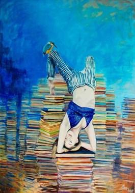 Obraz do salonu artysty Katarzyna Orońska pod tytułem Gimnastyka