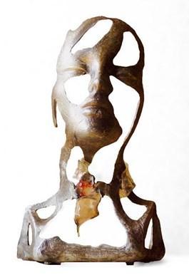 Rzeźba do salonu artysty Krzysztof Śliwka pod tytułem Głowa kobiety