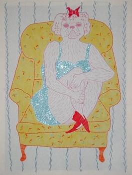Obraz do salonu artysty Marysia Jagłowska pod tytułem Pies