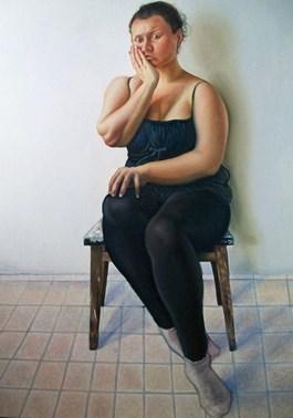Obraz do salonu artysty Paulina Szczepaniak pod tytułem W czerni