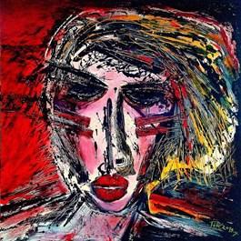 Obraz do salonu artysty Piotr Kopczyński pod tytułem Karolina z cyklu Maski