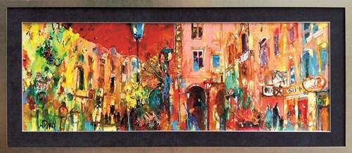 Obraz do salonu artysty Krzysztof Ludwin pod tytułem Kompozycja miejska Krakowa