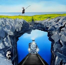 Obraz do salonu artysty Paulina Zalewska pod tytułem Skandynawska głębina