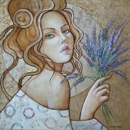 Obraz do salonu artysty Joanna Misztal pod tytułem Kojący zapach lawendy