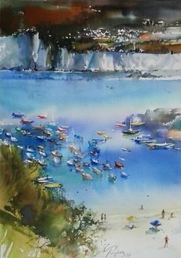 Obraz do salonu artysty Adam Papke pod tytułem Z Wysp Poncjańskich - pejzaż turystyczny