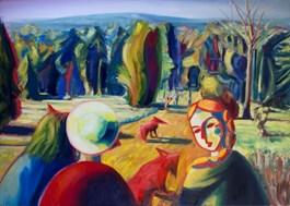Obraz do salonu artysty Maciej Cieśla pod tytułem Chodź z nami, zachodzi słońce