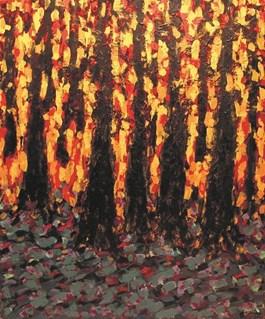 Obraz do salonu artysty Adam Bojara pod tytułem Drzewa II