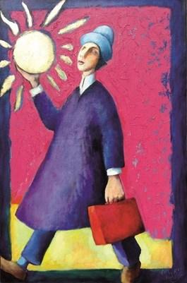Obraz do salonu artysty Miro Biały pod tytułem Przechodzi ludzkie pojęcie