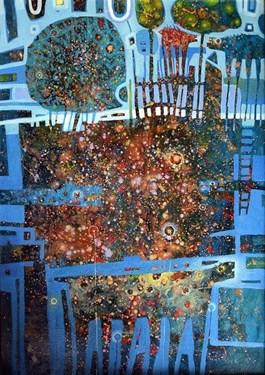 Obraz do salonu artysty Grzegorz Skrzypek pod tytułem Wiejskie koniostworki
