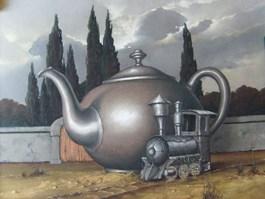 Obraz do salonu artysty Borys Michalik pod tytułem Czas na herbatę