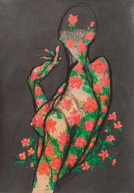 Obraz do salonu artysty Aleksandra Wiszniewska pod tytułem Warsza-wianki